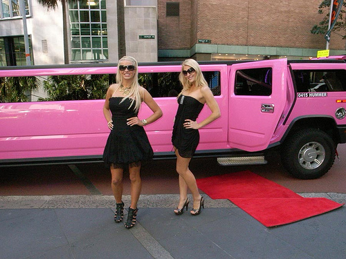 Corby Pink Limo Hire