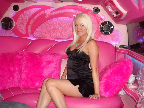Derby Pink Hummer Limo Hire