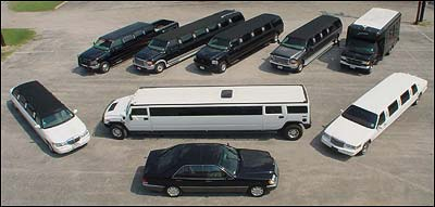 Business Meeting in a Limousine.
