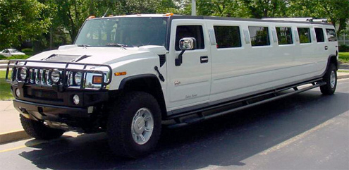 White Hummer Limo Hire Airport Transfers