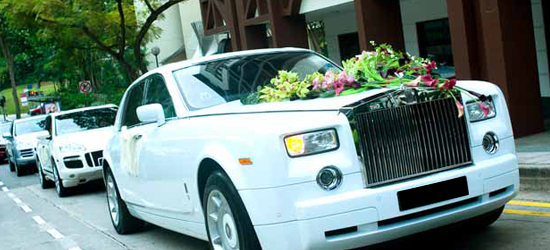 White Rolls Royce Phantom Wedding Hire Nottingham