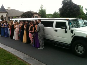 White Hummer School Prom Limo Hire
